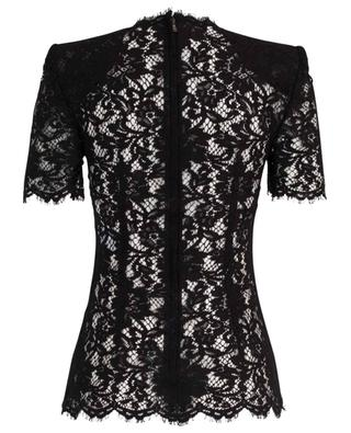 Short-sleeved floral lace top DOLCE & GABBANA