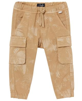 Printed cotton stretch cargo trousers IL GUFO