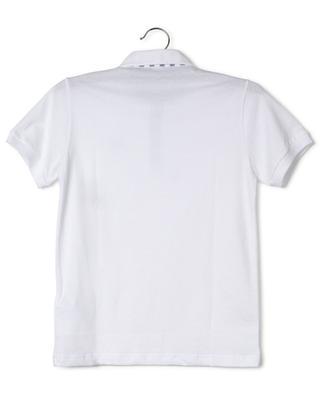 Polo en jersey détail popeline rayée IL GUFO