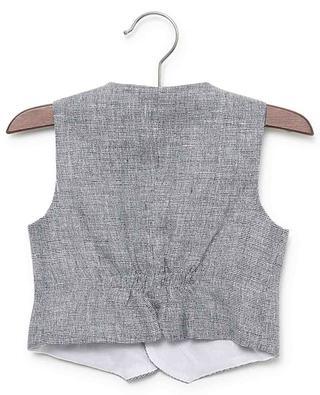 Printed linen vest IL GUFO