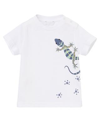 T-shirt en coton imprimé lézard IL GUFO