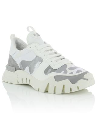 Camouflage-Sneakers aus Leder, Wildleder und Stoff Rockrunner Plus VALENTINO
