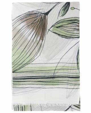 Feiner Schal aus Kaschmirmix mit Print Evelyn FALIERO SARTI