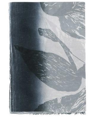 Feiner Schal aus Kaschmirmix mit Print Elisabeth FALIERO SARTI