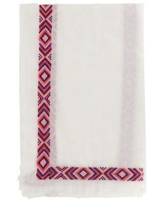 Bestickter Schal aus Baumwollmix Joy FALIERO SARTI