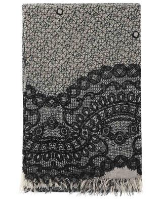 Feiner Schal aus Schurwolle mit Print Immacolata FALIERO SARTI