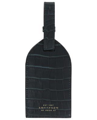 Gepäckanhänger aus Leder in Kroko-Optik Mara SMYTHSON