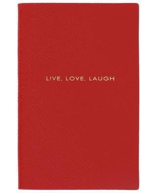 Live, Love, Laugh Panama leather notebook SMYTHSON