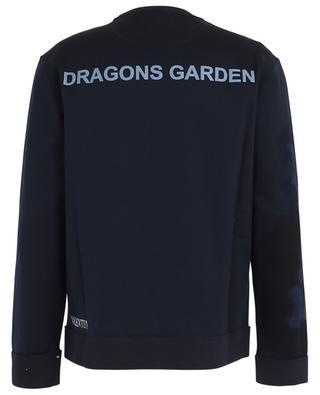 Dragons Garden print cotton blend sweatshirt VALENTINO