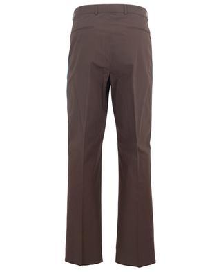 Pantalon à double pince en popeline avec rayures latérales VALENTINO