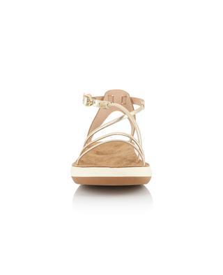Anastasia Comfort Platinum golden leather sandals ANCIENT GREEK SANDALS