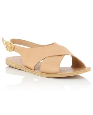 Maria flat cross-over strap leather sandals ANCIENT GREEK SANDALS