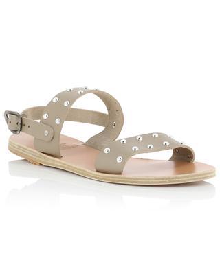 Dinami Rivets flatt studded smooth leather sandals ANCIENT GREEK SANDALS