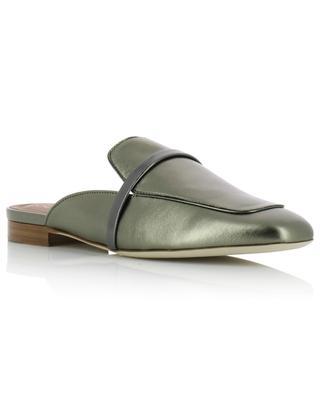 Flache Pantoletten aus Metallic-Leder Jada Flat MALONE SOULIERS