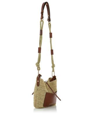 Holly raffia and leather shoulder bag VANESSA BRUNO