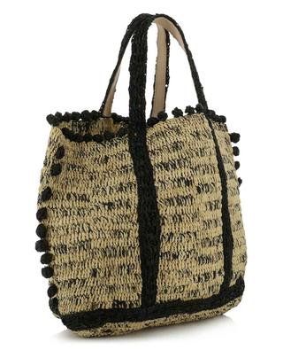 Bicolour raffia tote bag with raffia beads VANESSA BRUNO