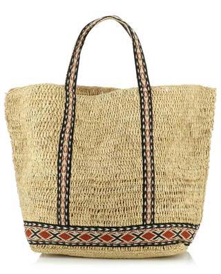 Raffia tote bag with ethnic details VANESSA BRUNO