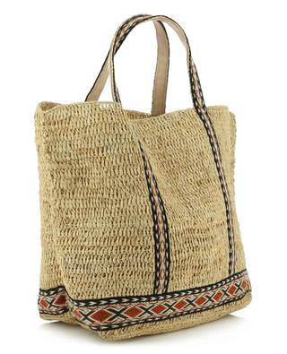 Raffia tote bag with ethnic details VANESSA BRUNO