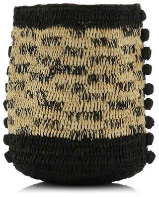 Kleine Bucket-Tasche aus zweifarbigem Raphiabast und Leder Bulles VANESSA BRUNO