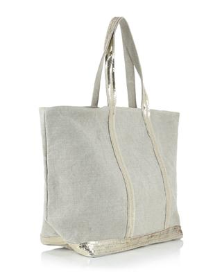 Linen tote bag with sequins VANESSA BRUNO