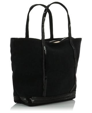 Sequin adorned linen small tote bag VANESSA BRUNO