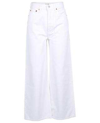 Jeans mit hoher Taille 60s Exterme Wide Leg White RE/DONE