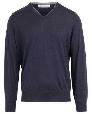 V-neck cashmere and silk jumper BRUNELLO CUCINELLI