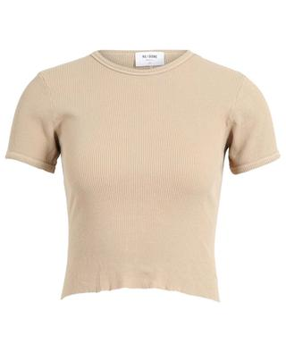 Skinny-Fit-T-Shirt 90s Ribbed Cap Sleeve Tee RE/DONE