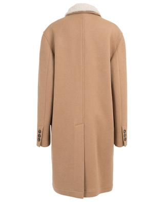 Camel hair coat with shearling collar BRUNELLO CUCINELLI