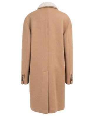 Mantel aus Camel mit Kragen aus Shearling BRUNELLO CUCINELLI