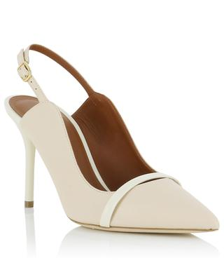 Marion 85 nappa and patent leather sling-back pumps MALONE SOULIERS