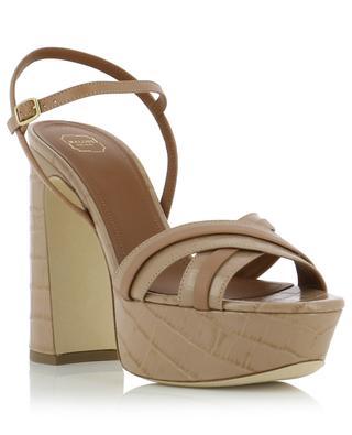 Mila 125 croc effect leather platform heels MALONE SOULIERS
