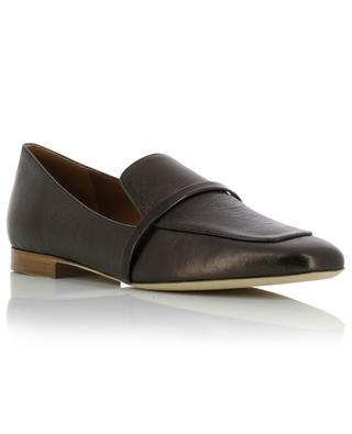 Jane Flat metallic square toe loafers MALONE SOULIERS