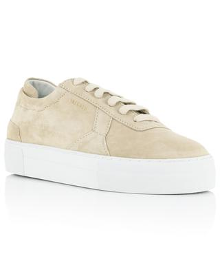 Platform beige suede lace-up sneakers AXEL ARIGATO