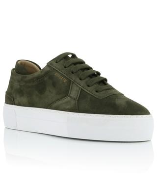 Platform Military khaki suede lace-up sneakers AXEL ARIGATO