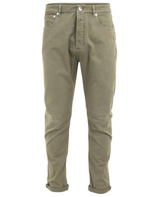 Pantalon droit en coton mélangé BRUNELLO CUCINELLI
