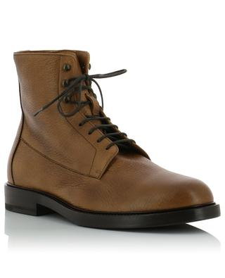 Grained deer leather lace-up boots BRUNELLO CUCINELLI