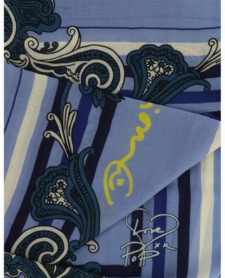 Paisley print wool shawl ETRO