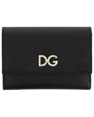 Kleine Brieftasche aus texturiertem Leder DG Crystals DOLCE & GABBANA