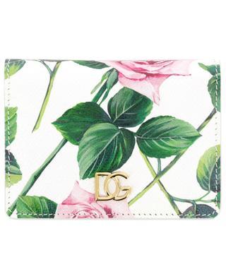 Mini-Brieftasche aus Dauphine-Leder Tropical Rose DOLCE & GABBANA