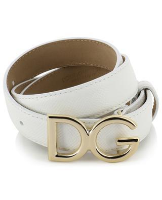 Feiner Gürtel aus genarbtem Leder mit DG-Logo DOLCE & GABBANA