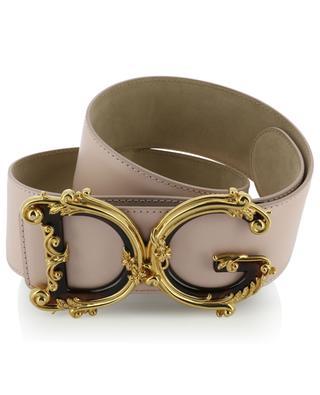 Baroque DG logo wide leather belt DOLCE & GABBANA