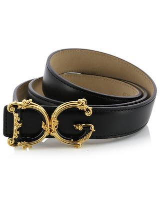Baroque DG logo leather belt DOLCE & GABBANA