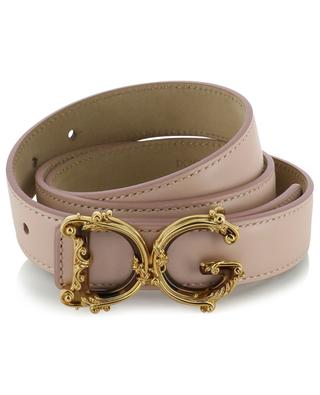 Baroque DG logo leather belt DOLCE & GABBANA