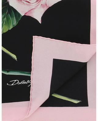 Halstuch aus Seide mit Rosenprint DOLCE & GABBANA