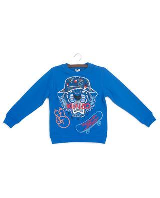 Dragon Celebration tiger and skateboard embroidered sweatshirt KENZO
