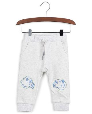Tiger Friends embroidered heather grey track trousers KENZO
