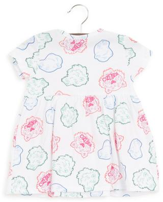 Multi-Icons printed jersey baby dress KENZO
