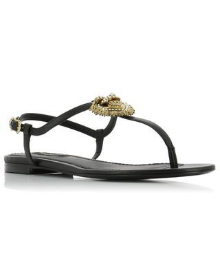 Sandales plates en cuir nappa Devotion DOLCE & GABBANA