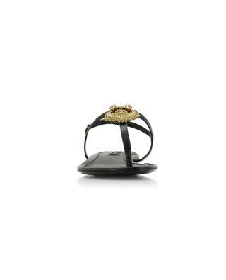 Devotion nappa leather flat sandals DOLCE & GABBANA